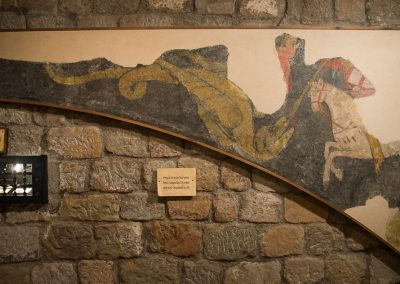 Frontal de l'arc de Sant Jordi. Fragment